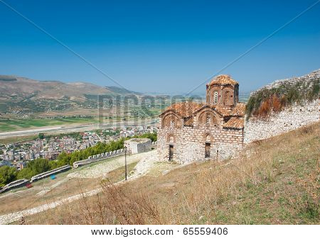 Historic Orthodox Holy Trinity Church in the UNESCO city of Berat, Albania