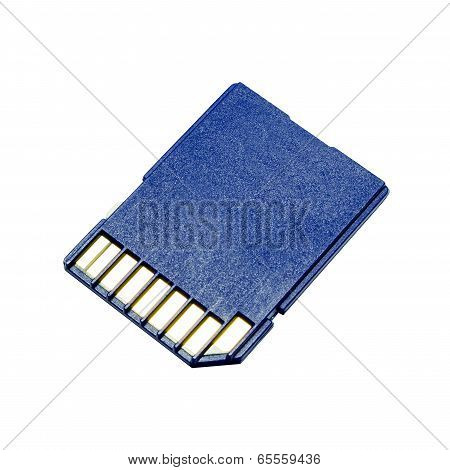 Blue Memory Sd. Card,