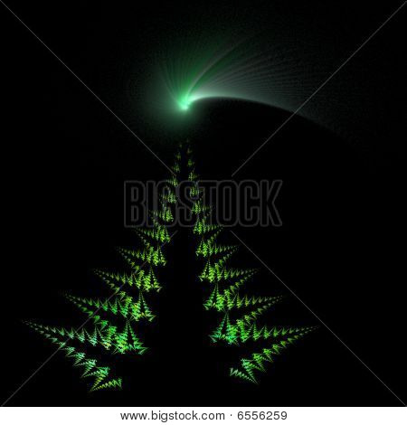 Christmas Tree And Comet Star