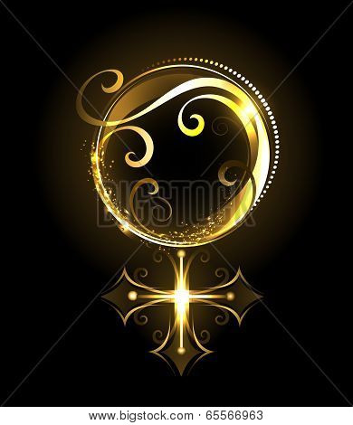 Golden Symbol Of Venus