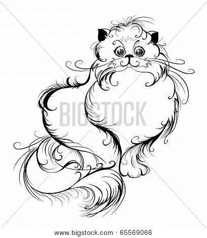 Stylized Persian Cat