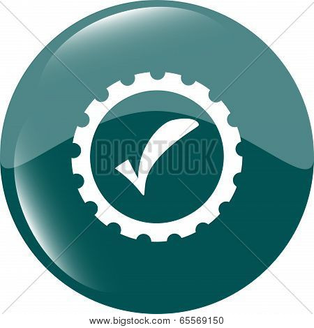 Informatic Protection Shield Icon, Web Button Isolated On White