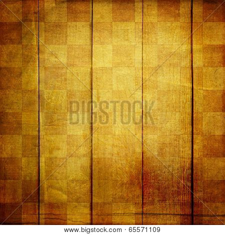 Vintage Abstract Background With Chequered Chess Ornament