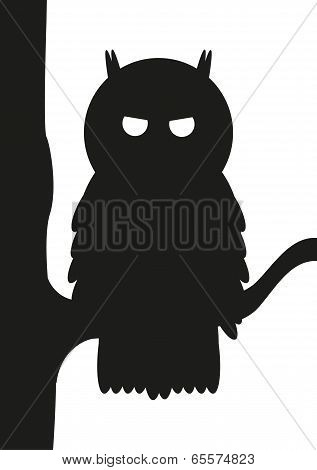 Owl On Tree Silhouette