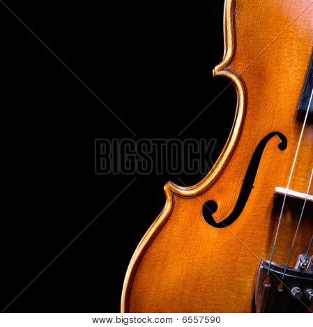 vintage violin in the dark