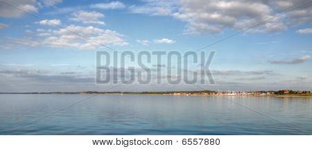 Calm sea front