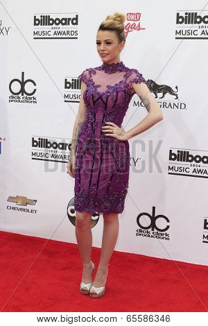 LAS VEGAS - MAY 18:  Cher Lloyd at the 2014 Billboard Awards at MGM Grand Garden Arena on May 18, 2014 in Las Vegas, NV