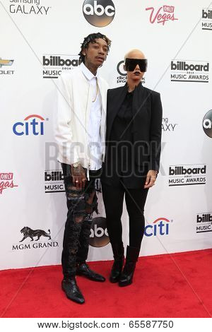 LAS VEGAS - MAY 18:  Wiz Khalifa, Amber Rose at the 2014 Billboard Awards at MGM Grand Garden Arena on May 18, 2014 in Las Vegas, NV