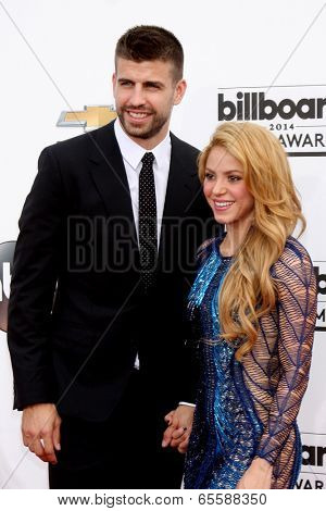 LAS VEGAS - MAY 18:  Gerard Pique, Shakira at the 2014 Billboard Awards at MGM Grand Garden Arena on May 18, 2014 in Las Vegas, NV