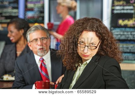 Woman Annoyed With Man