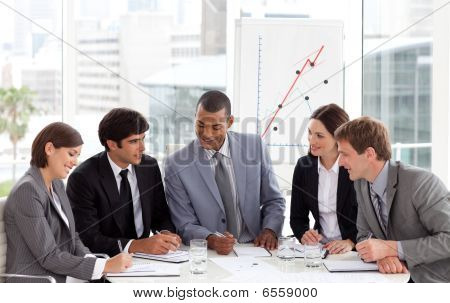 Business People Showing Diversity Discussing A New Strategy