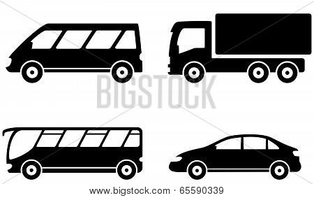 vehicle, bus, truck and car transport set