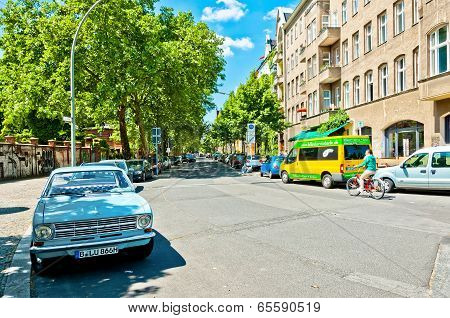 street view in Kreuzberg district, Berlin
