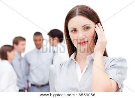 Confident Manager On Phone