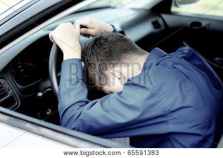Teenager Fall Asleep In A Car