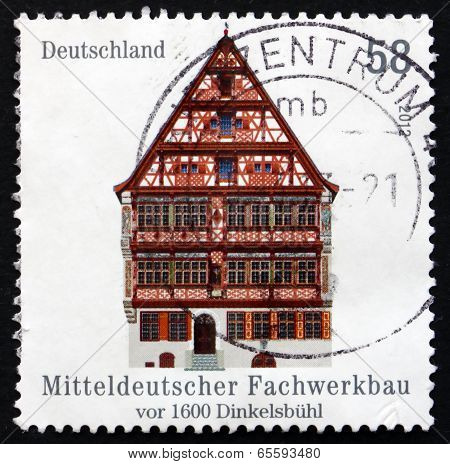 Postage Stamp Germany 2012 Half-timbered Building In Dinkelsbuhl