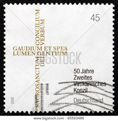 Postage Stamp Germany 2012 Second Vatican Council