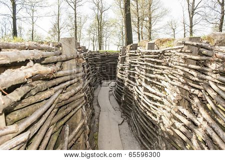 Bayernwald Wooden Trench Of World War 1