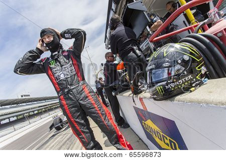 Indianapolis, IN - May 19, 2014:  Kurt Busch (26) takes to the track as he makes practice runs for the Indianapolis 500 IndyCar race in Indianapolis, IN.