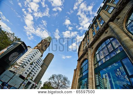 Berlin sky and Kaiser Wilhelm Memorial Church