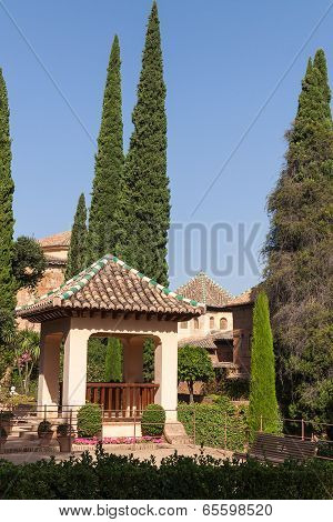 Arbour In Heneralife Gardens, Alhambra, Spain