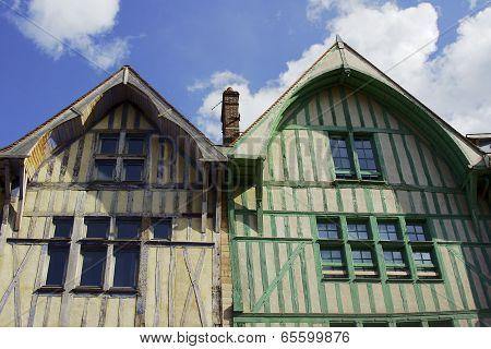 Medieval half-timbered tenement