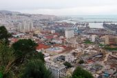image of algiers  - overview of Algiers capital city of Algeria country Belouizdad suburb and port  - JPG