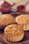 foto of mid autumn  - Retro vintage style Chinese mid autumn festival foods - JPG