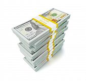 stock photo of bundle  - Creative business finance making money concept  - JPG