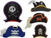 pic of pirate hat  - Illustration Featuring Different Types of Pirate Hats - JPG