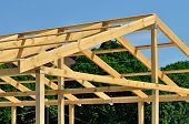 pic of purlin  - Construction of wooden trusses of thick boards - JPG