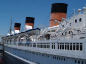 image of long beach  - Historic Queen Mary steamer taken in Long Beach - JPG