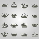 image of queen crown  - Collection of simple king and queen crowns - JPG