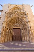 picture of apostolic  - Valencia Cathedral Apostoles door where Tribunal de las Aguas traditional court meets in Spain - JPG