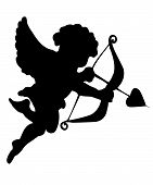 picture of cupid  - Vector illustration of amour - JPG