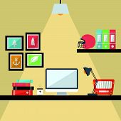 foto of workstation  - the creative design of Workstation Flat Design - JPG