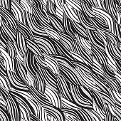 foto of beach shell art  - Beach seamless pattern in black and white is hand drawn ink illustration - JPG