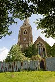 stock photo of derelict  - A derelict abandoned village church in the UK - JPG