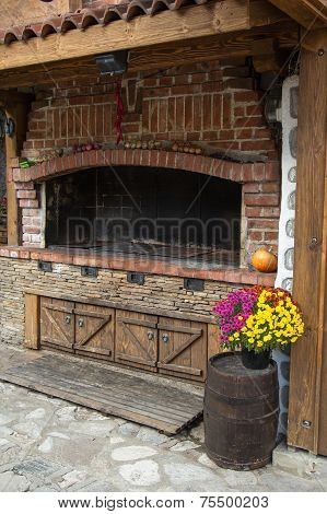 Wood Stove Outdoors