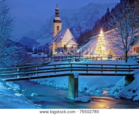 Christmas Time in Ramsau,Bavaria,Berchtesgaden
