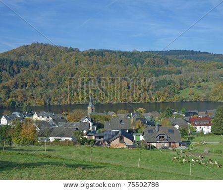 Einruhr,Rur Reservoir,Eifel,Germany