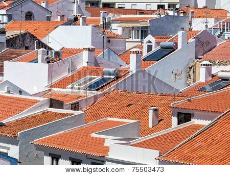 White Houses And Red Tile Roofs