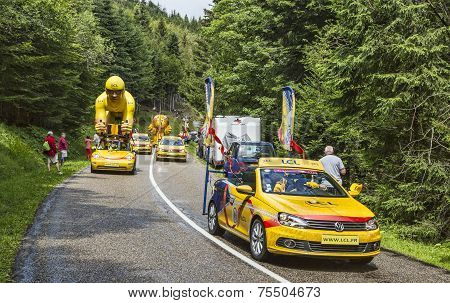 Lcl Caravan During Le Tour De France 2014