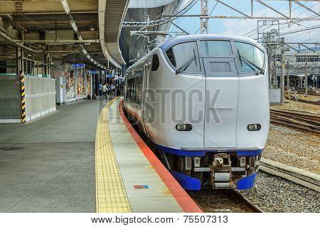 Haruka Train in Kyoto Japan