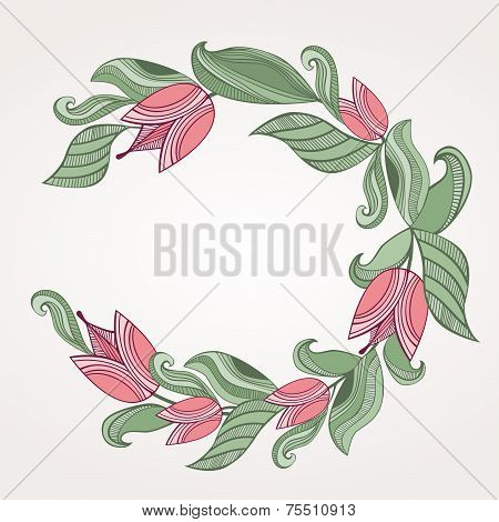 Round Floral Border