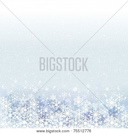Winter Background With Blue Snow Scenery