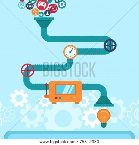Vector Abstract Infographics In Flat Style