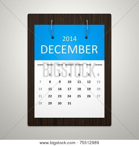 An image of a stylish calendar for event planning December 2014