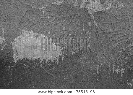 Old Fabric Leather Of Gray Color With Attritions
