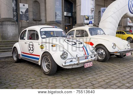 Old Fashion Vw Beetle Herbie Style Restored